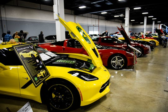 Car enthusiasts enjoy looking at new and exotic vehicles during the South Carolina International Auto Show Friday, Jan. 11, 2019 at the Greenville Convention Center.