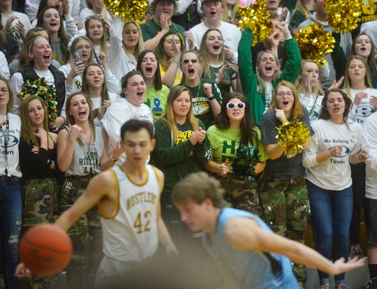 Crosstown boys' basketball game, Thursday night, in the CMR Fieldhouse.