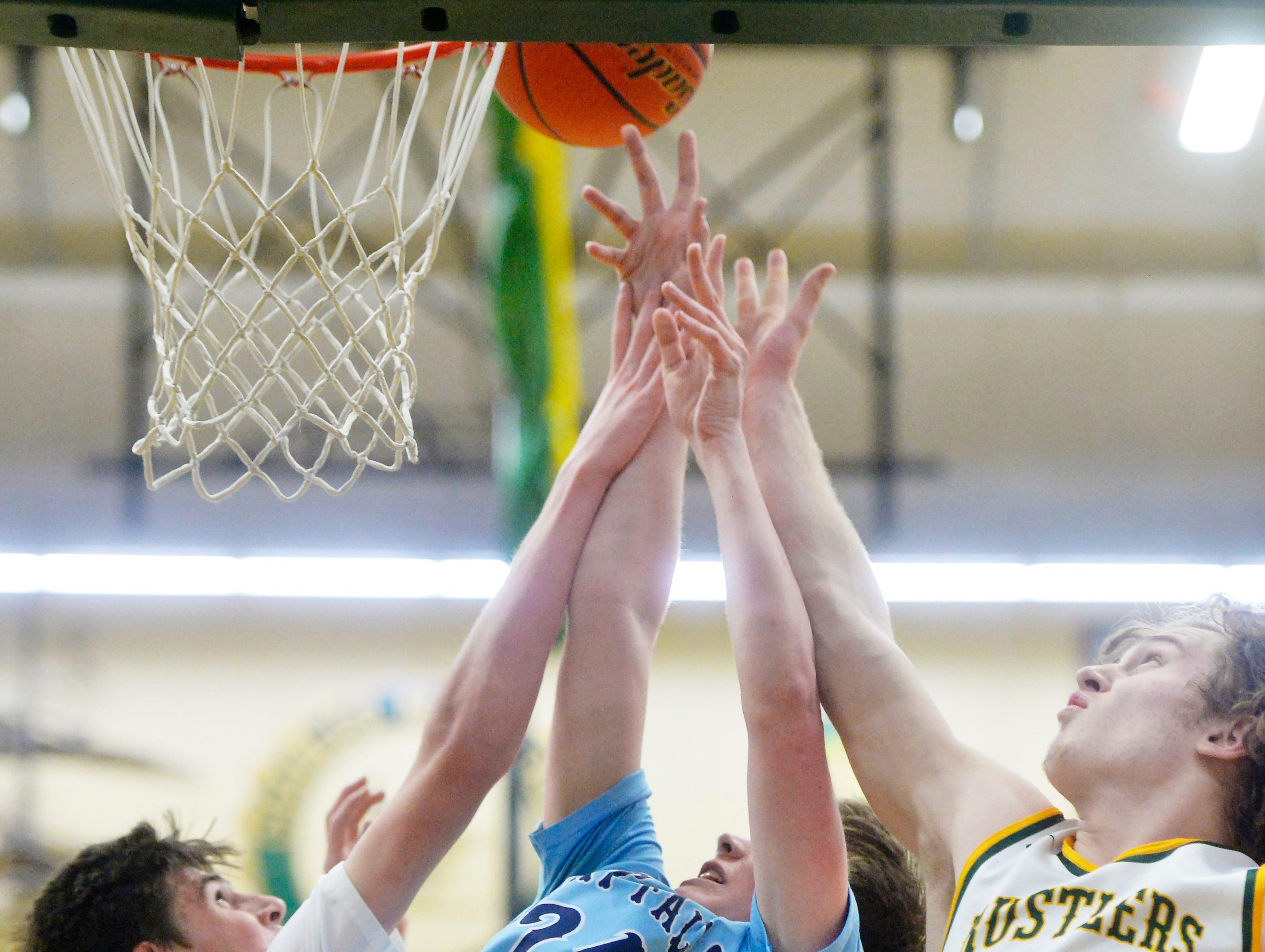 Crosstown boys' basketball game, Thursday night in the CMR Fieldhouse.