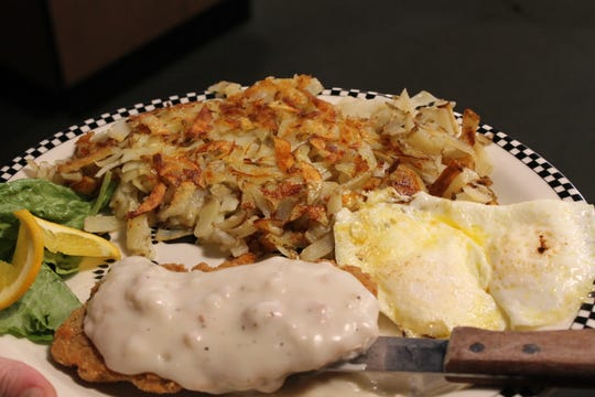 Black Bear Diner's chicken-fried steak comes with potatoes, eggs, biscuits and gravy. There's also a dinner option.