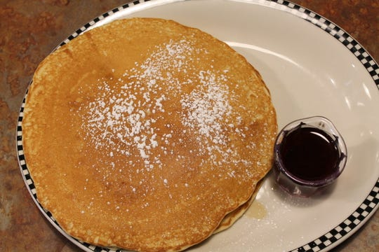The pancakes at Black Bear Diner are made with buttermilk and sweet cream.