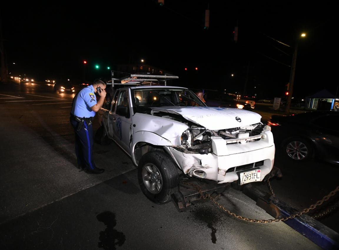 Two car crash in Mangilao near Price Elementary on January 11th, 2019.
