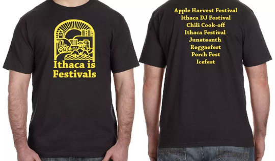 A limited edition shirt on offer from Ithaca Festival's organizers