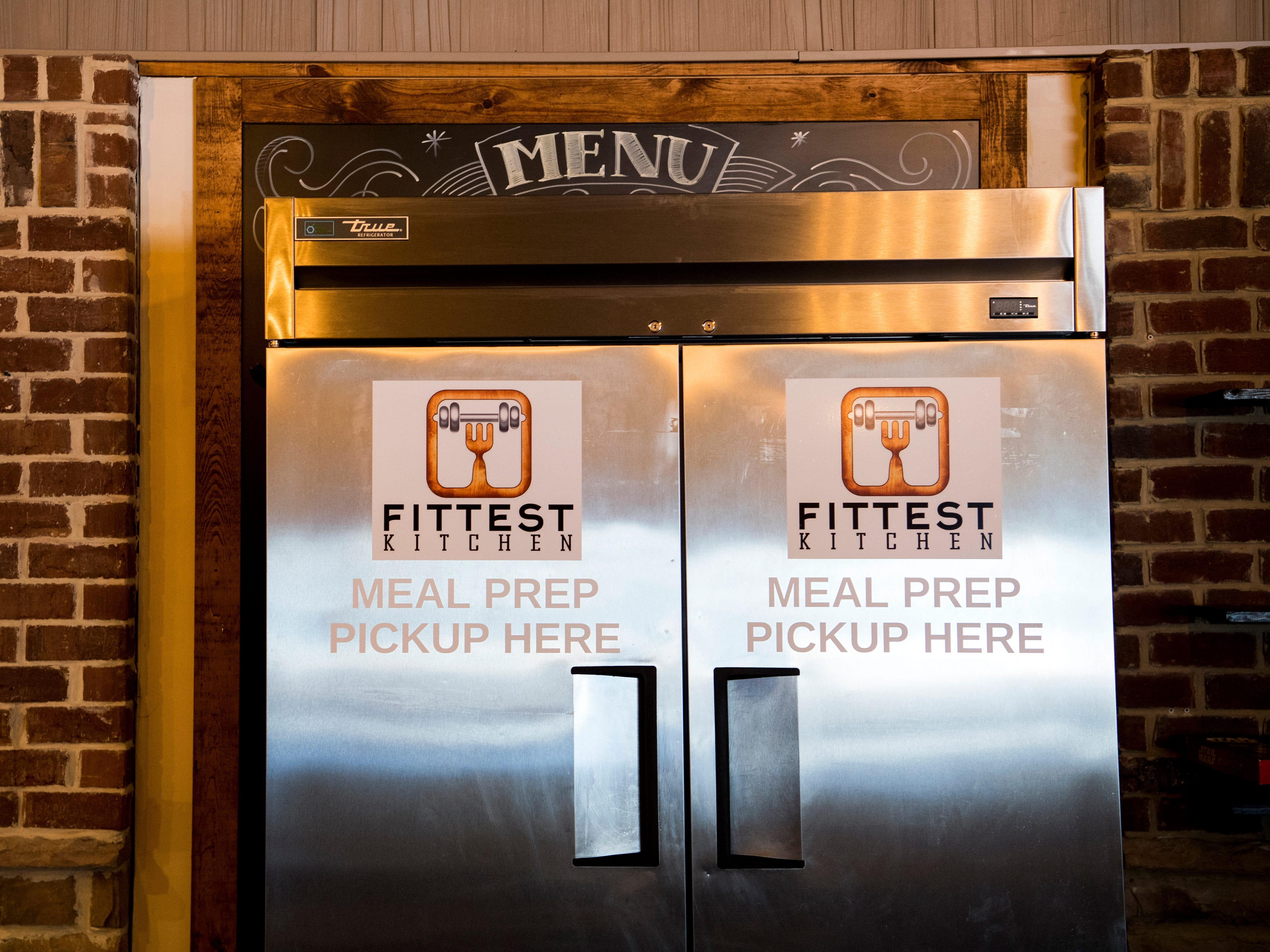 The meal prep pickup area at Fittest Kitchen, a meal prepping service housed at The Health Factory located on Alcoa Highway in Knoxville.