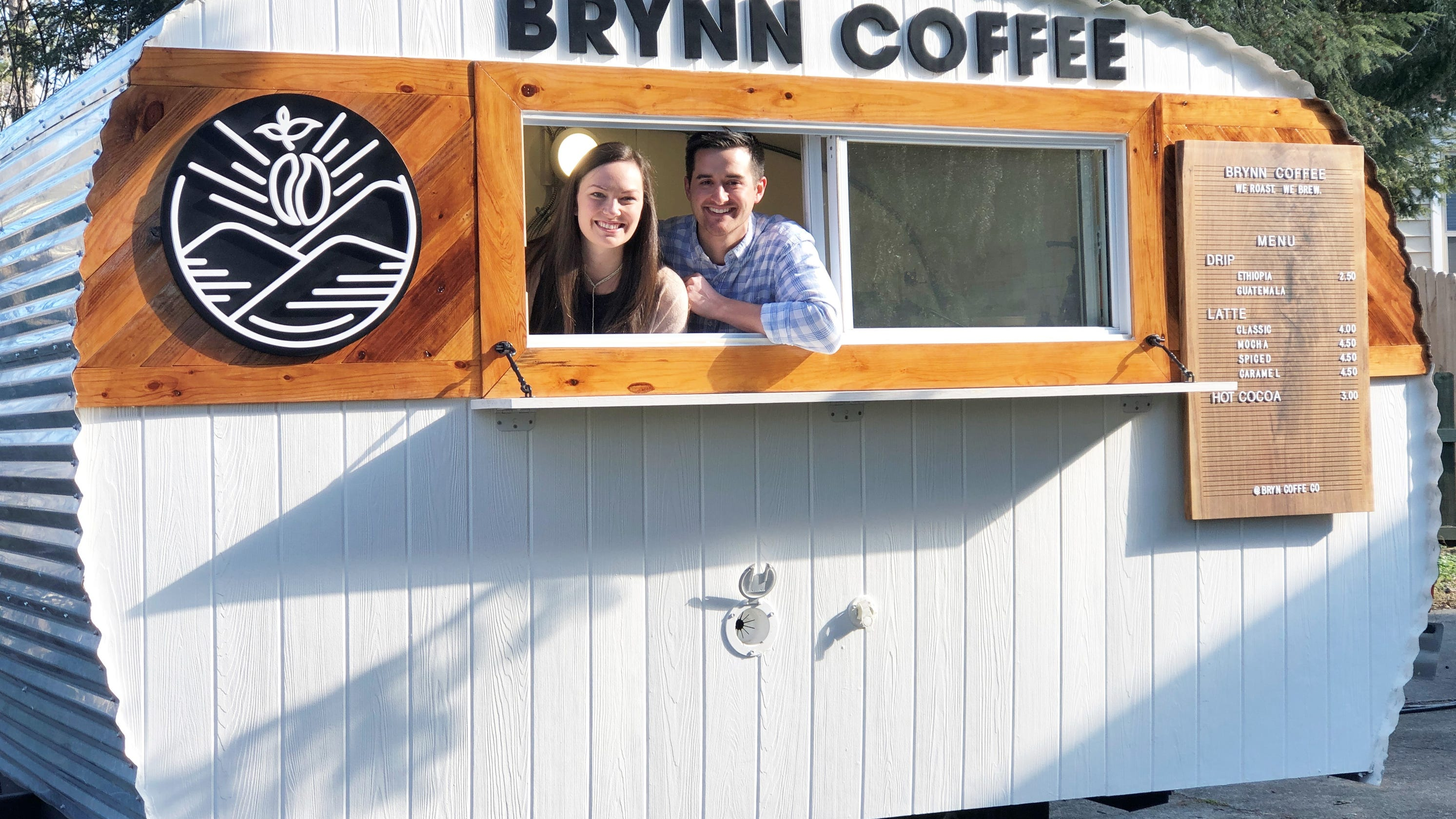 Freshly roasted Brynn Coffee from a 1970s Winnebago