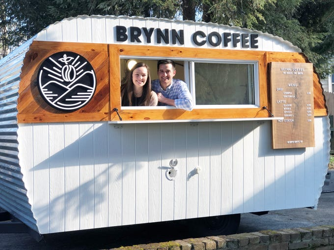 Collin and Megan Napier launched Brynn Coffee Co to serve the market of growing coffee lovers who want freshly roasted, ethically sourced, specialty coffee. Napier focuses on the roasting and brewing, while Megan Napier takes care of the social media, marketing and branding for Brynn Coffee Co.