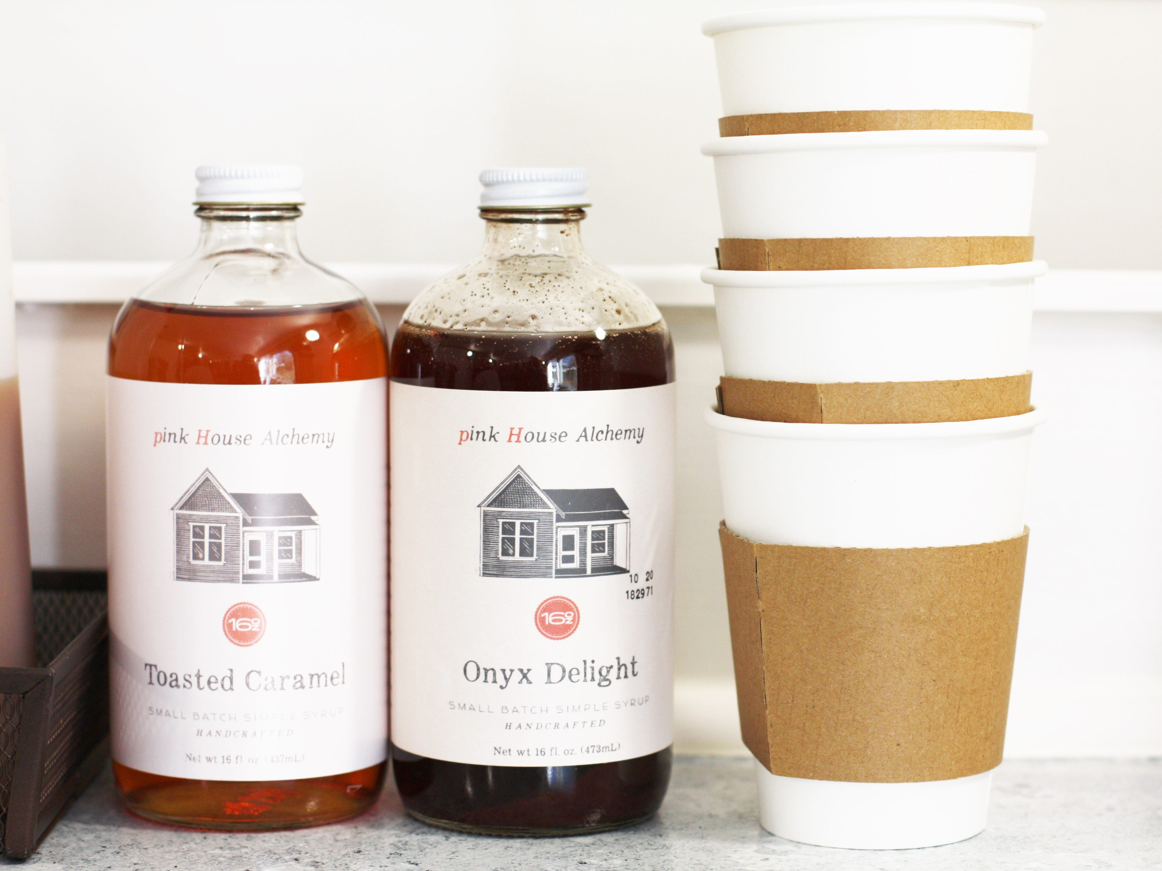 """""""My family lives in Arkansas, and that's where we discovered pink House Alchemy syrups – they're made with quality, natural ingredients like cinnamon, honey, cane sugar and vanilla extract,"""" said Collin Napier, owner of Brynn Coffee Co."""