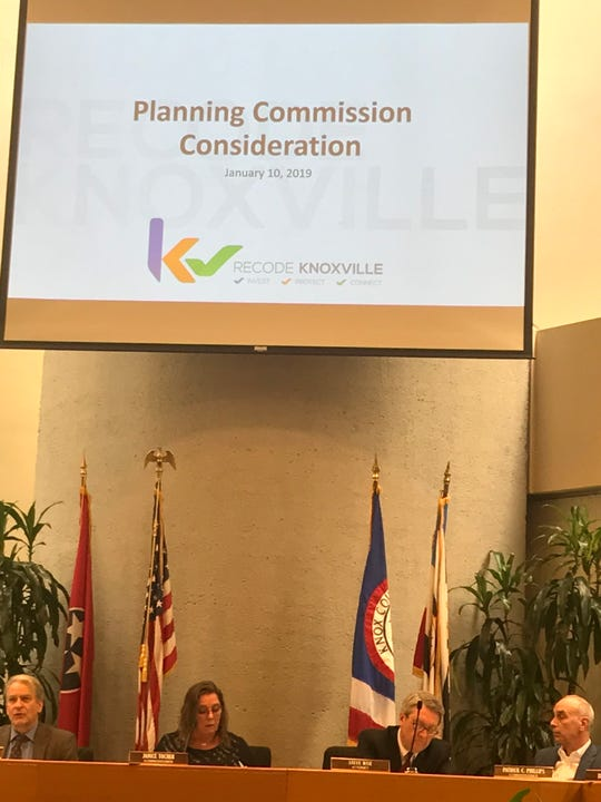 Knoxville-Knox County planning commissioners prepare to vote on a new city zoning ordinance, Jan. 10, 2019.