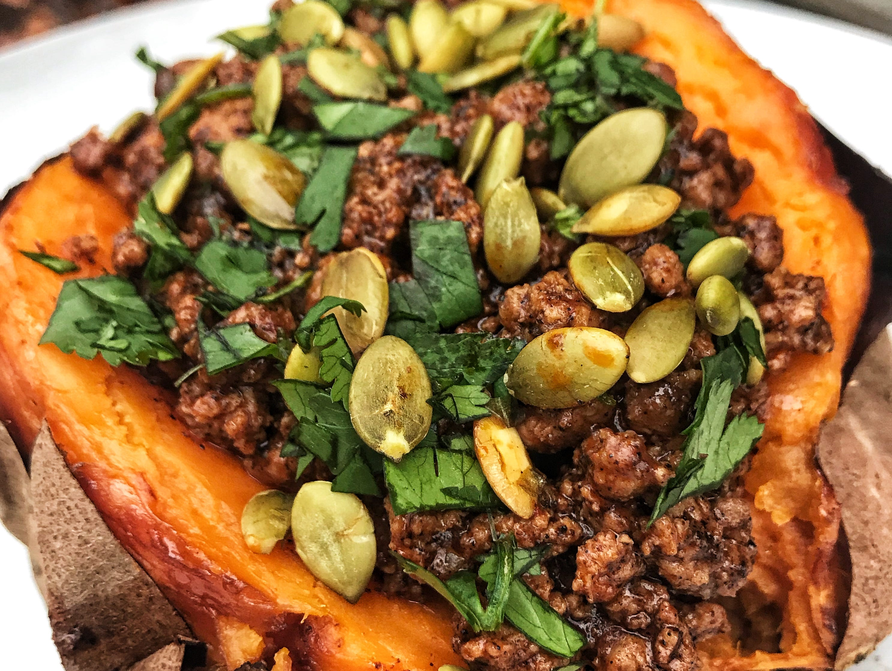 Fittest Kitchen has launched a meal prep service, which includes menu items like the grass-fed beef enchilada stuffed sweet potato.