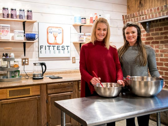 Fittest Kitchen's Becky Deubert, left, and Courtney Holden at their kitchen inside The Health Factory on Alcoa Highway in Knoxville.