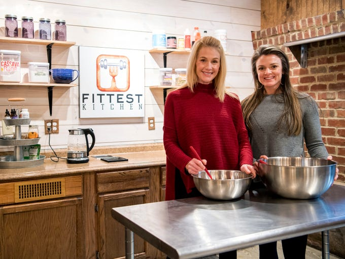 Fittest Kitchen's Becky Deubert, left, and Courtney Holden at their kitchen inside The Health Factory located on Alcoa Highway in Knoxville on Friday, January 10, 2019.
