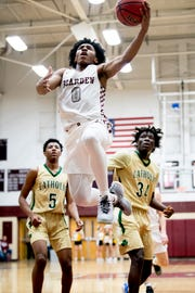 Bearden's Ques Glover shoots a layup during a game between Bearden and Catholic at Bearden High School in Knoxville, Tennessee on Thursday, January 10, 2019.