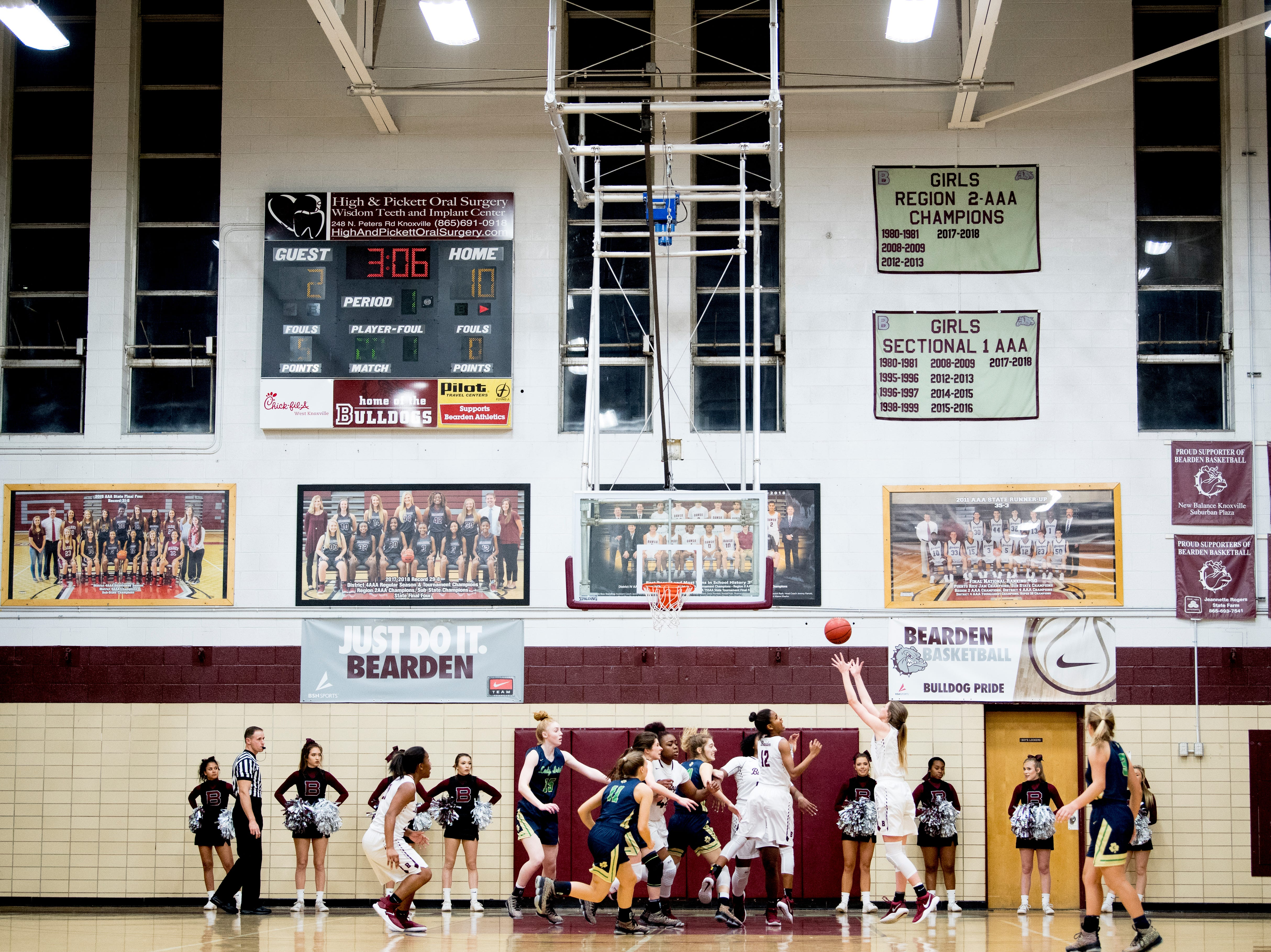 Players compete during a game between Bearden and Catholic at Bearden High School in Knoxville, Tennessee on Thursday, January 10, 2019.