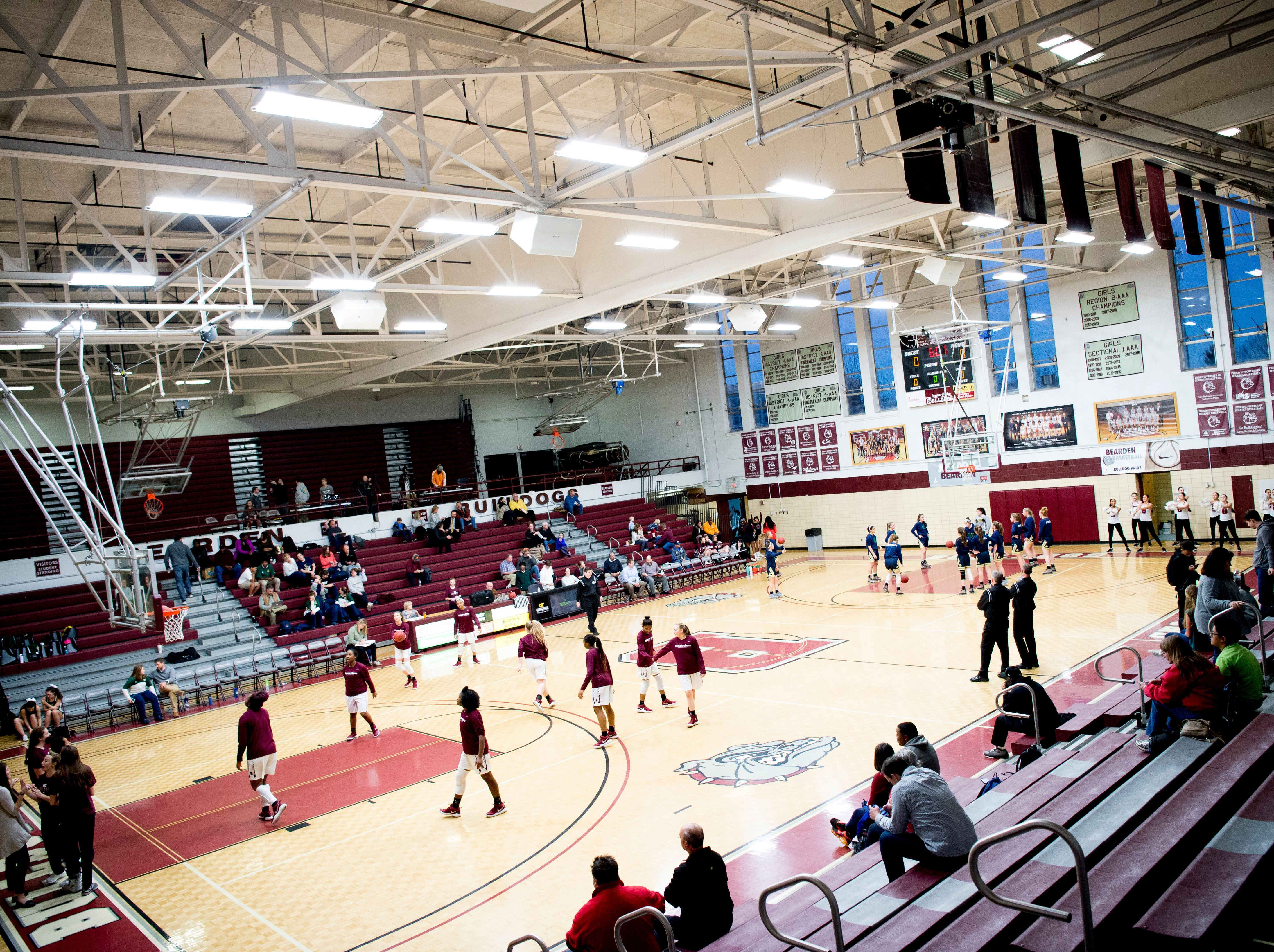A view of the court before a game between Bearden and Catholic at Bearden High School in Knoxville, Tennessee on Thursday, January 10, 2019.