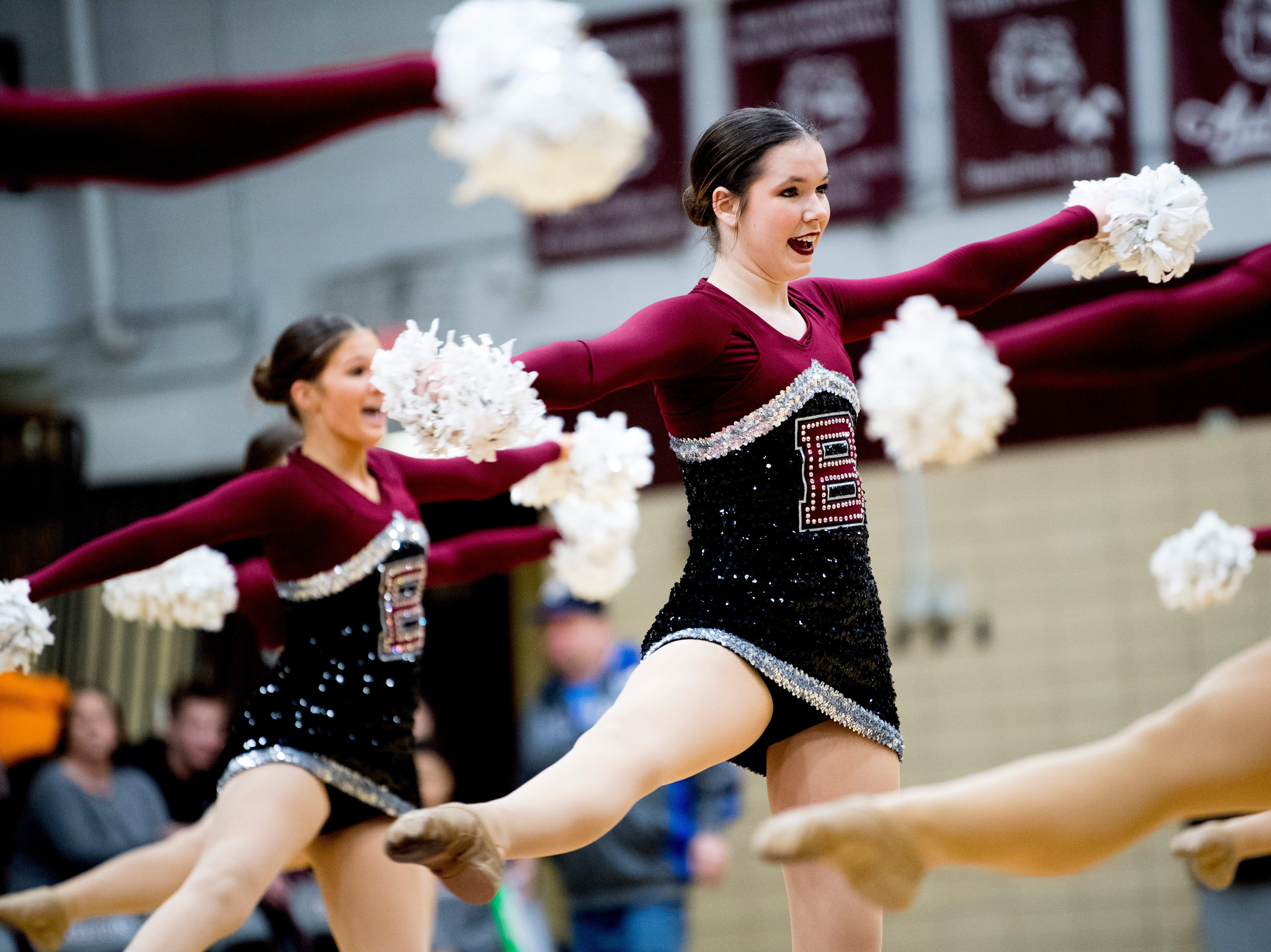 Bearden dance team members perform during a game between Bearden and Catholic at Bearden High School in Knoxville, Tennessee on Thursday, January 10, 2019.