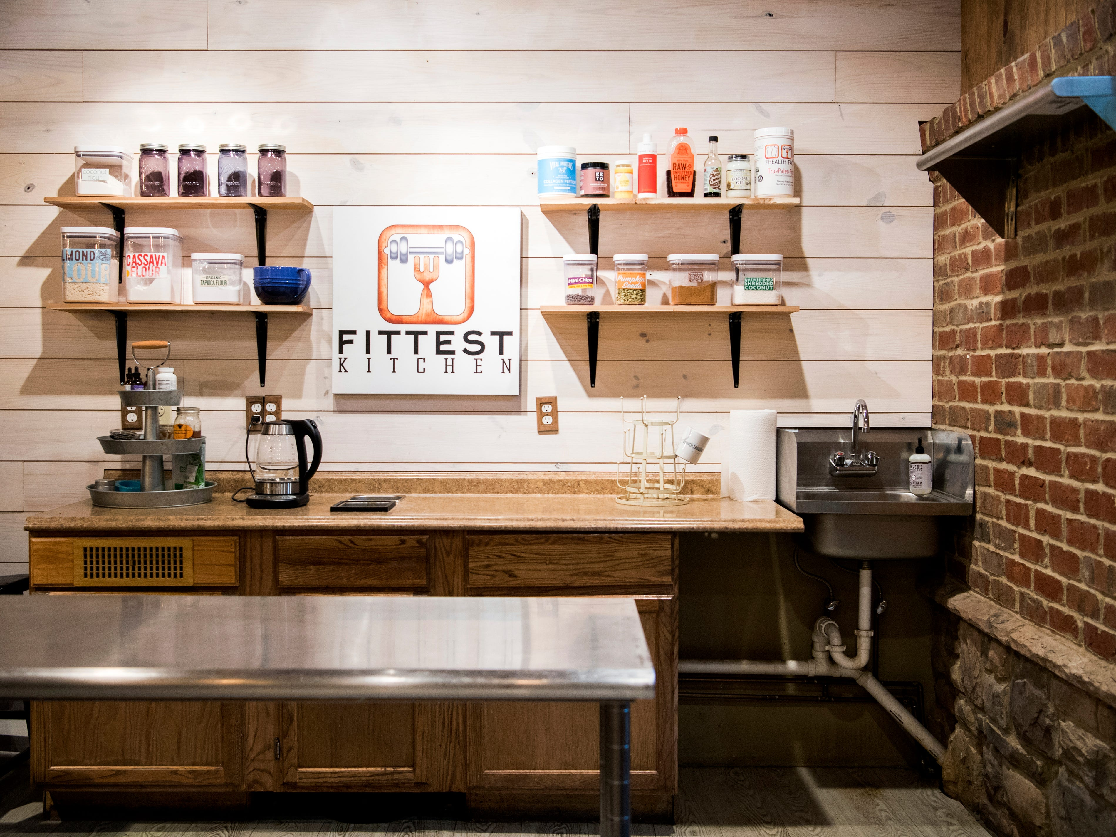 The kitchen area for Fittest Kitchen, a meal prepping service housed at The Health Factory located on Alcoa Highway in Knoxville.