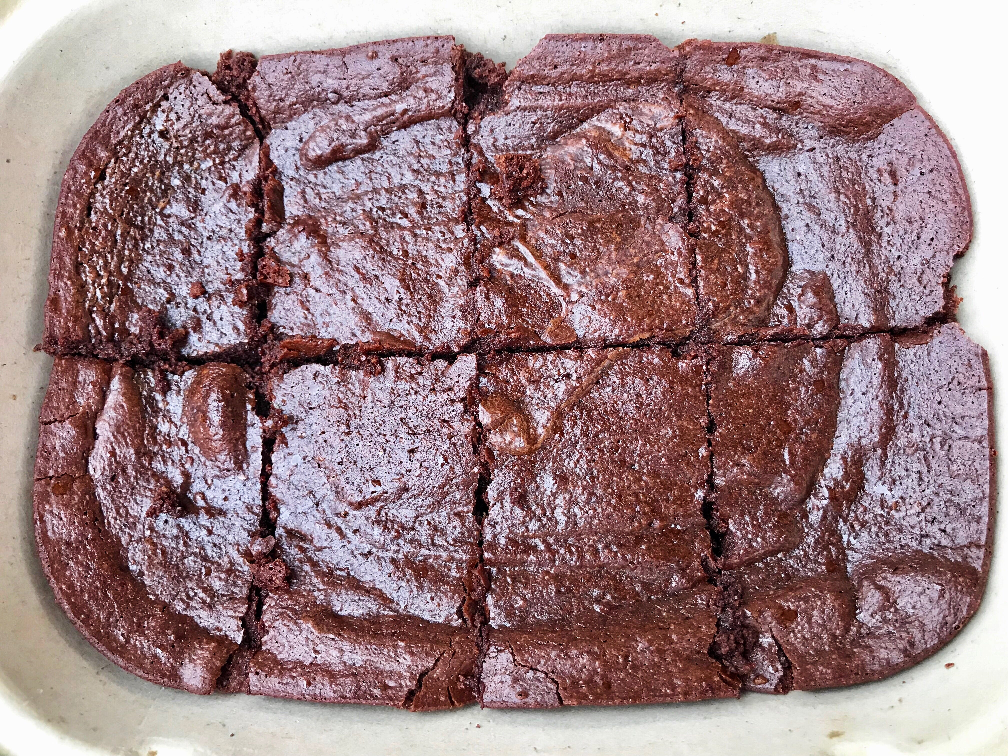 Fittest Kitchen has launched a meal prep service, which includes menu items like the pan of brownies.