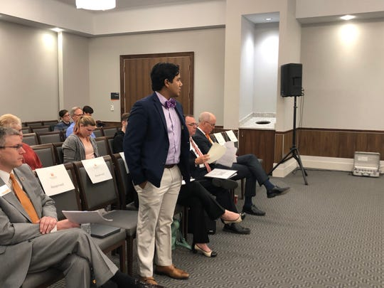 Ovi Kabir, the Student Government Association president, was approved as the student representative for the Advisory Board at the University of Tennessee, Knoxville, on Friday, Jan. 11, 2018.