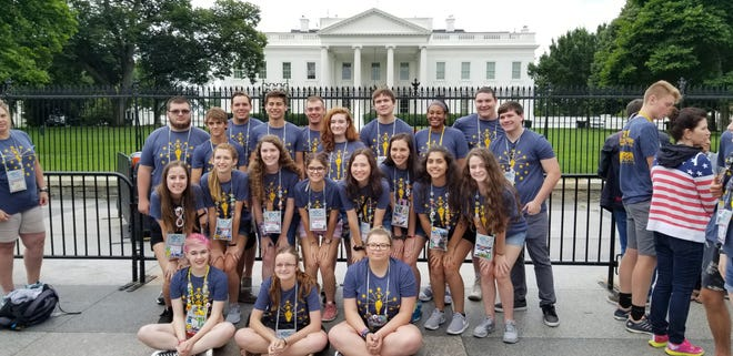 Students on the 2018 sponsored trip to Washington, D.C.