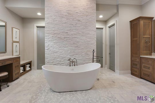 The master bath is a modern beauty.