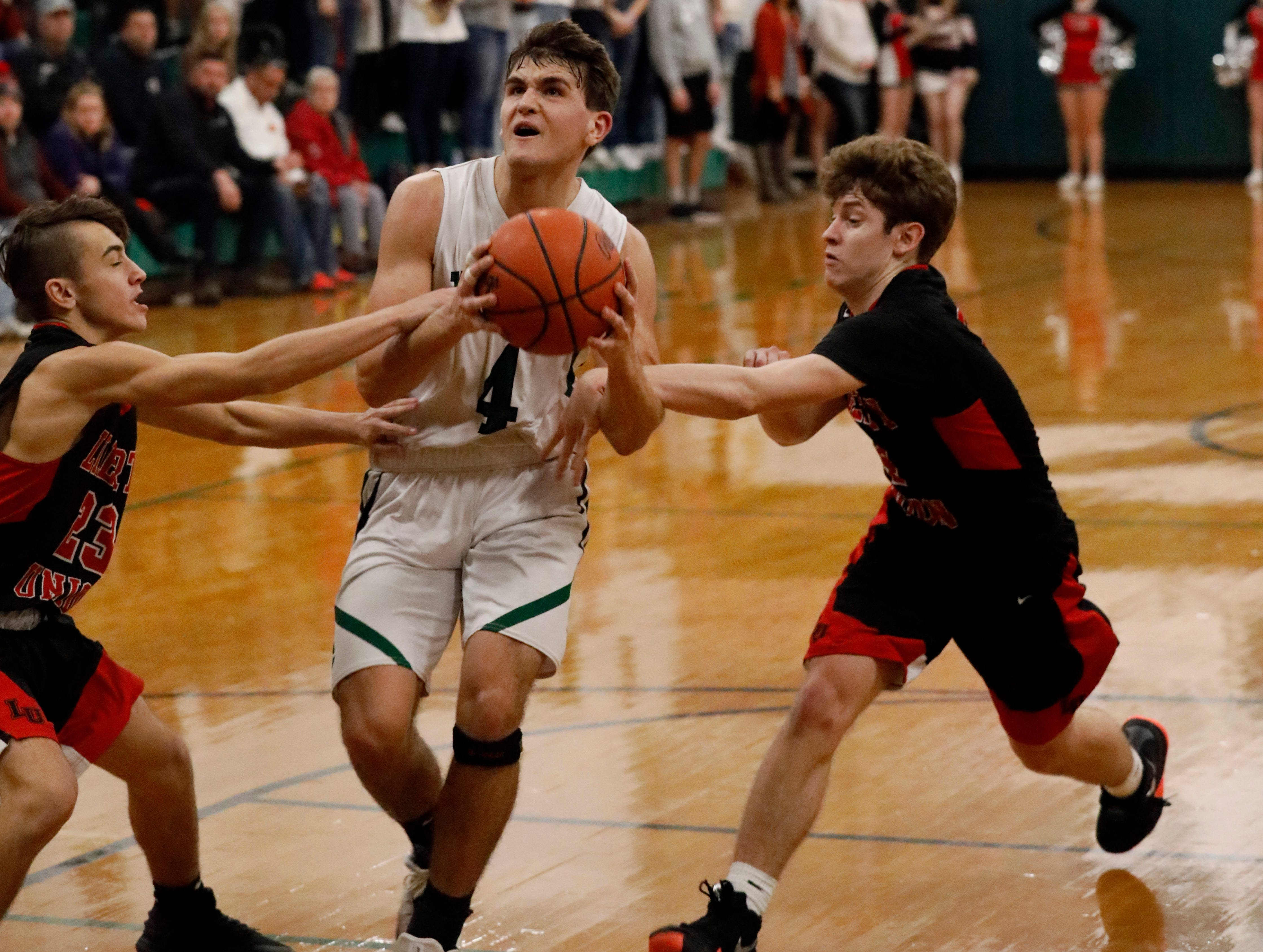 Liberty Union defeated Fisher Catholic 72-65 Thursday night, Jan. 10, 2019, at Fisher Catholic High School in Lancaster.