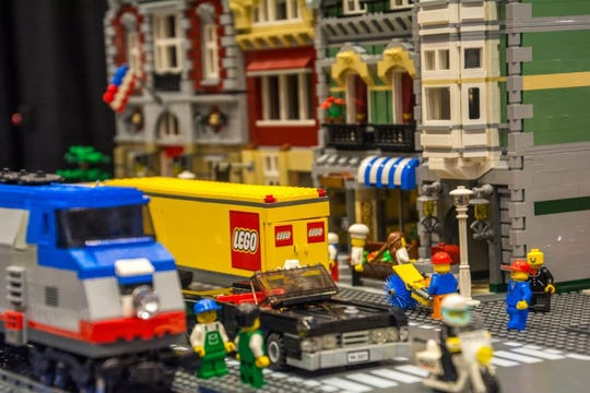 LEGO city at BrickUniverse LEGO Fan Convention in Louisville.