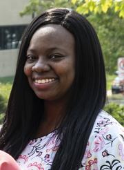 Shenda Washington, registered medical assistant and graduate of the program at McLaren Greater Lansing.