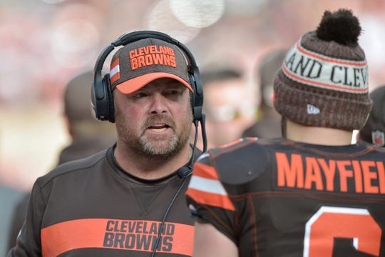 Freddie Kitchens wasted no time developing chemistry with quarterback Baker Mayfield in his eight games as offensive coordinator of the Cleveland Browns. That's why he's the new head coach.
