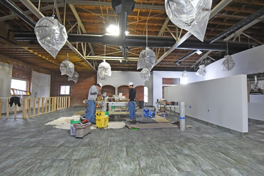 The dining area of the Hudson & Essex Restaurant construction is progressing. Jason J. Molyet/News Journal