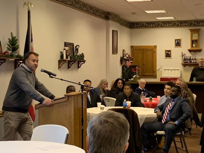 "Ohio Democratic Party Chairman David Pepper delivers a ""postmortem"" of the November elections and advice for going forward in a talk to members of the Richland County Democratic Party on Thursday."