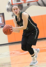 Madison's Brooklyn Arnold passes the ball while playing at Mansfield Senior on Thursday.