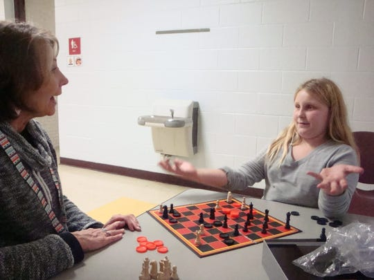 Denise Newsome and her student met this year and are off to a great start at George Washington. They enjoy playing games that Zoe makes up during their time together.