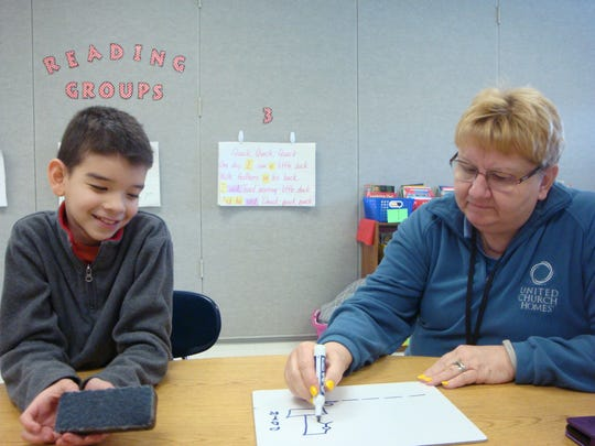 Patti Klingel and her mentee are in their third year of mentoring. They started at Taft elementary and their relationship has continued to Grant Middle School.