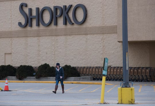 While nearby Walmart and Target parking lots are filled with cars, there are just a smattering of shoppers Jan. 11 at the Shopko in Fond du Lac.