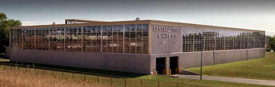 The windows on the Central Steel & Wire Co. building along I-94 on Milwaukee's south side were covered in 2001.