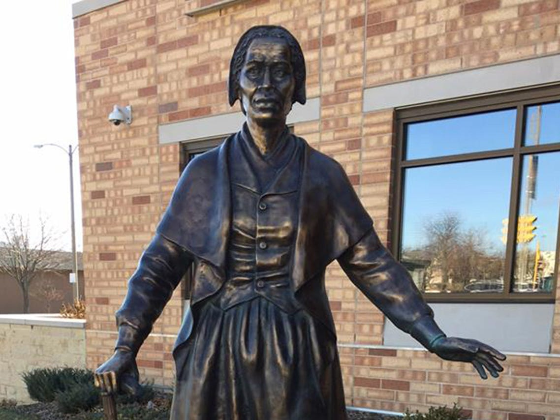 This statue of Sojourner Truth, a former slave, abolitionist and women's rights advocate, was dedicated in 2016 at the Sojourner Family Peace Center in Milwaukee.
