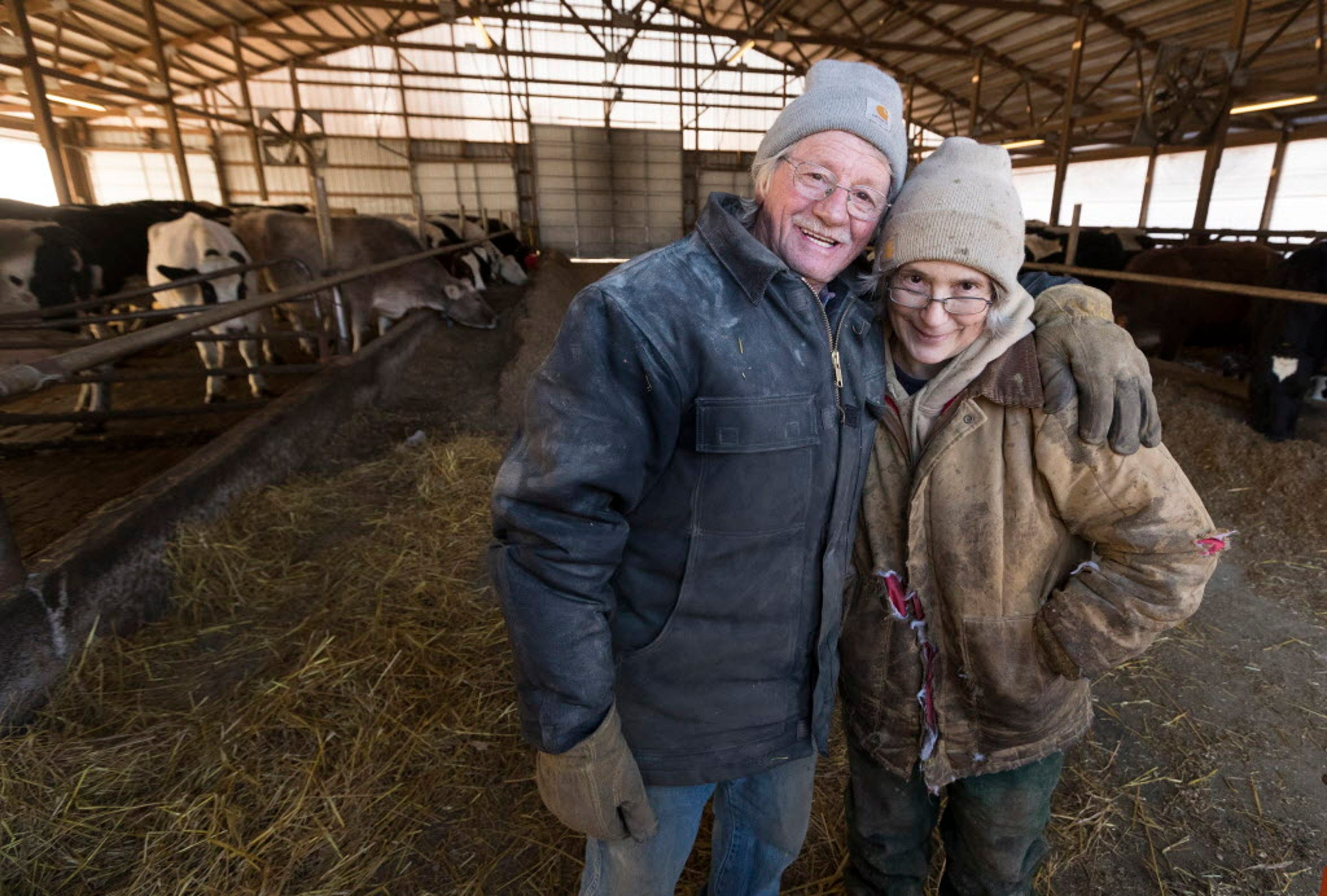 Chuck and Sue Spaulding have partnered with their daughter and her husband to run S & S Dairy. Like most dairy farmers, they are struggling.