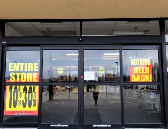 The Grafton Shopko store was advertising clearance stores on Jan. 11 as the store prepares to close in April.