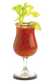 You can get your Bloody on at Crafty Cow, where they're working on the largest Bloody Mary bar.