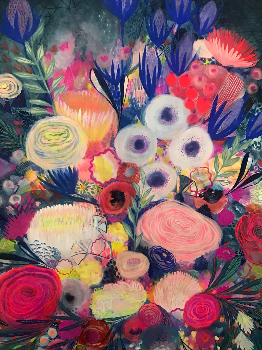 A floral painting by Amy Soczka