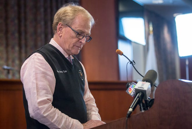 Dennis Tyler, Muncie's current mayor, makes the announcement Friday that he will not seek a third term. Tyler cited family as his major reason for not seeking re-election.