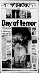 The front page of the Sept. 11, 2001, edition of The Tennessean