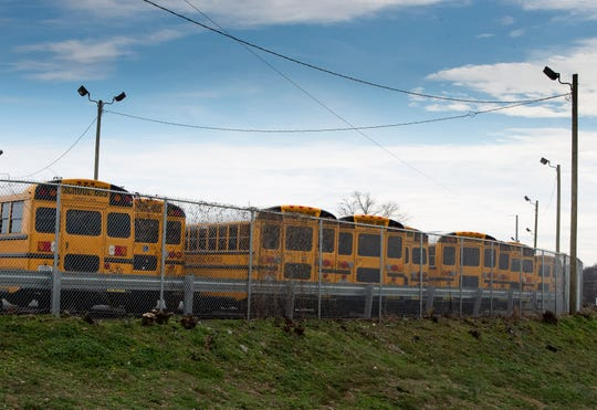 Metro Nashville Public Schools is in talks with developers to trade a bus transportation center on a hill off Nolensville Pike for an affordable housing development there for teachers. Friday, Jan. 11, 2019, in Nashville, Tenn.