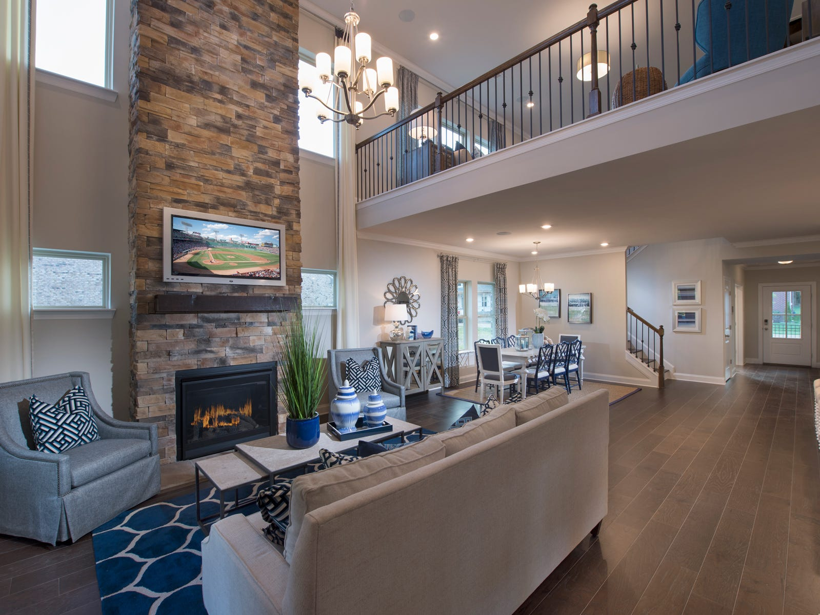 Meritage's single-family homes in Foxland Harbor have spacious interiors.