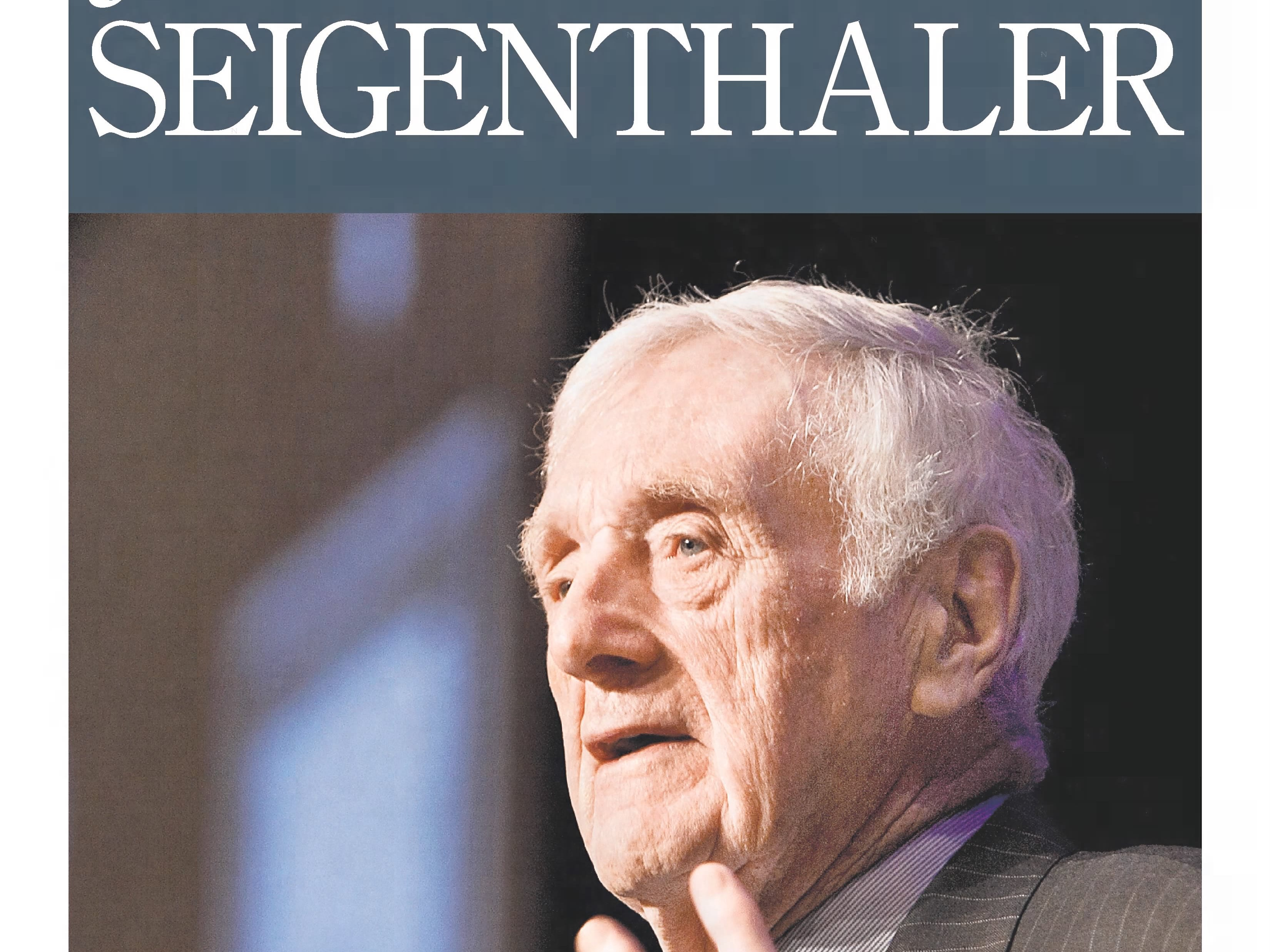 The front page of the July 12, 2014 of The Tennessean for the coverage of the death of John Seigenthaler.