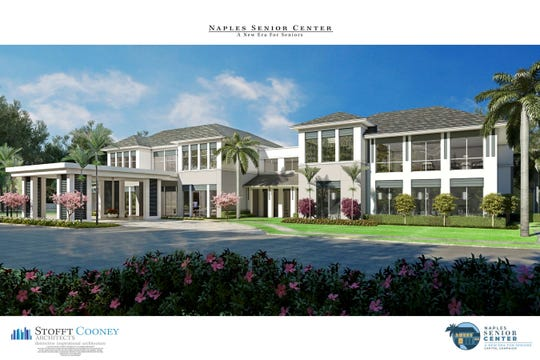 A rendering of the proposed new Naples Senior Center.