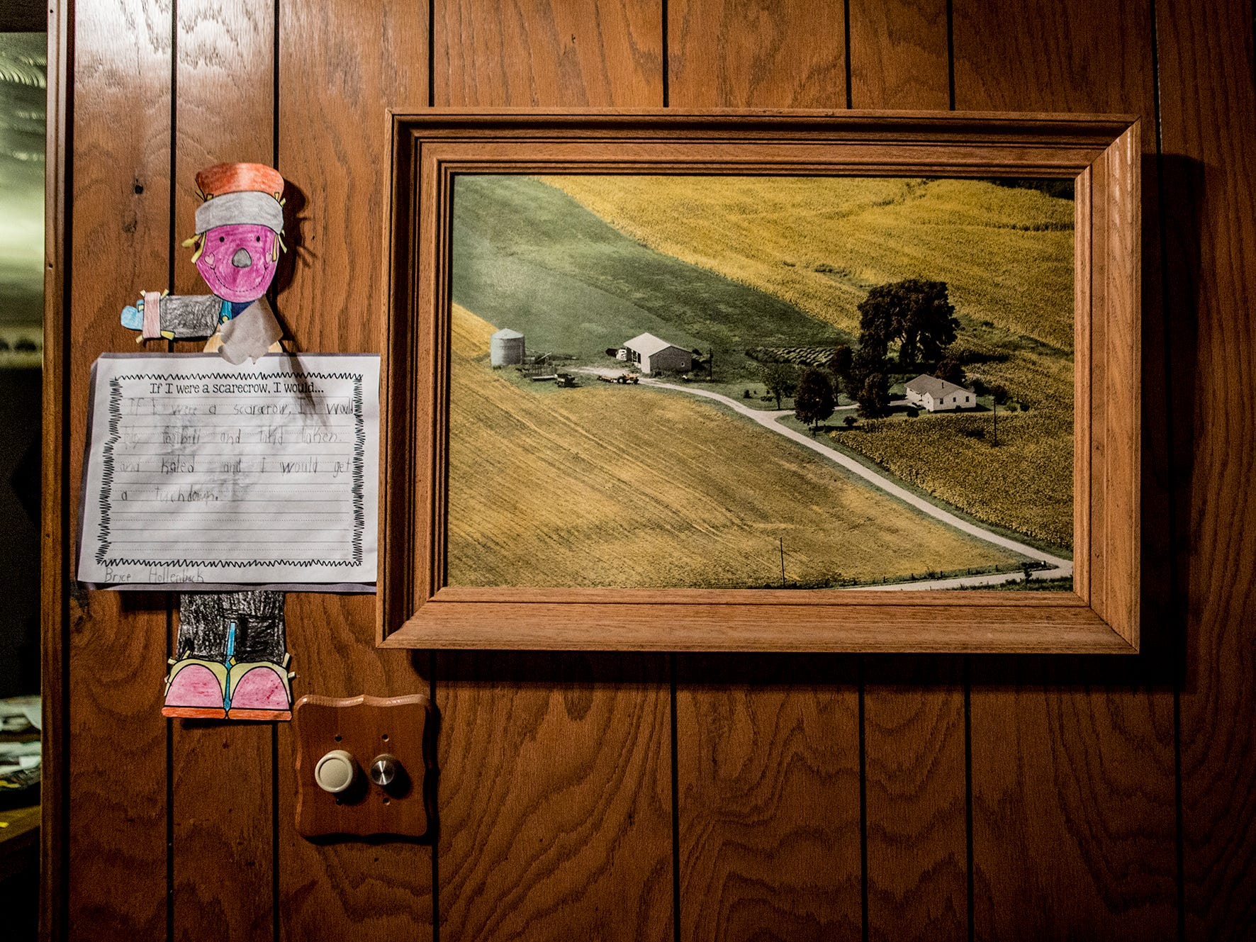 Andy and Mamie have a photo of the farm as it was when they bought in in 2003 hanging on their wall. The couple have made many improvements since then, including more Granin bins and barns to store their upgraded equipment.