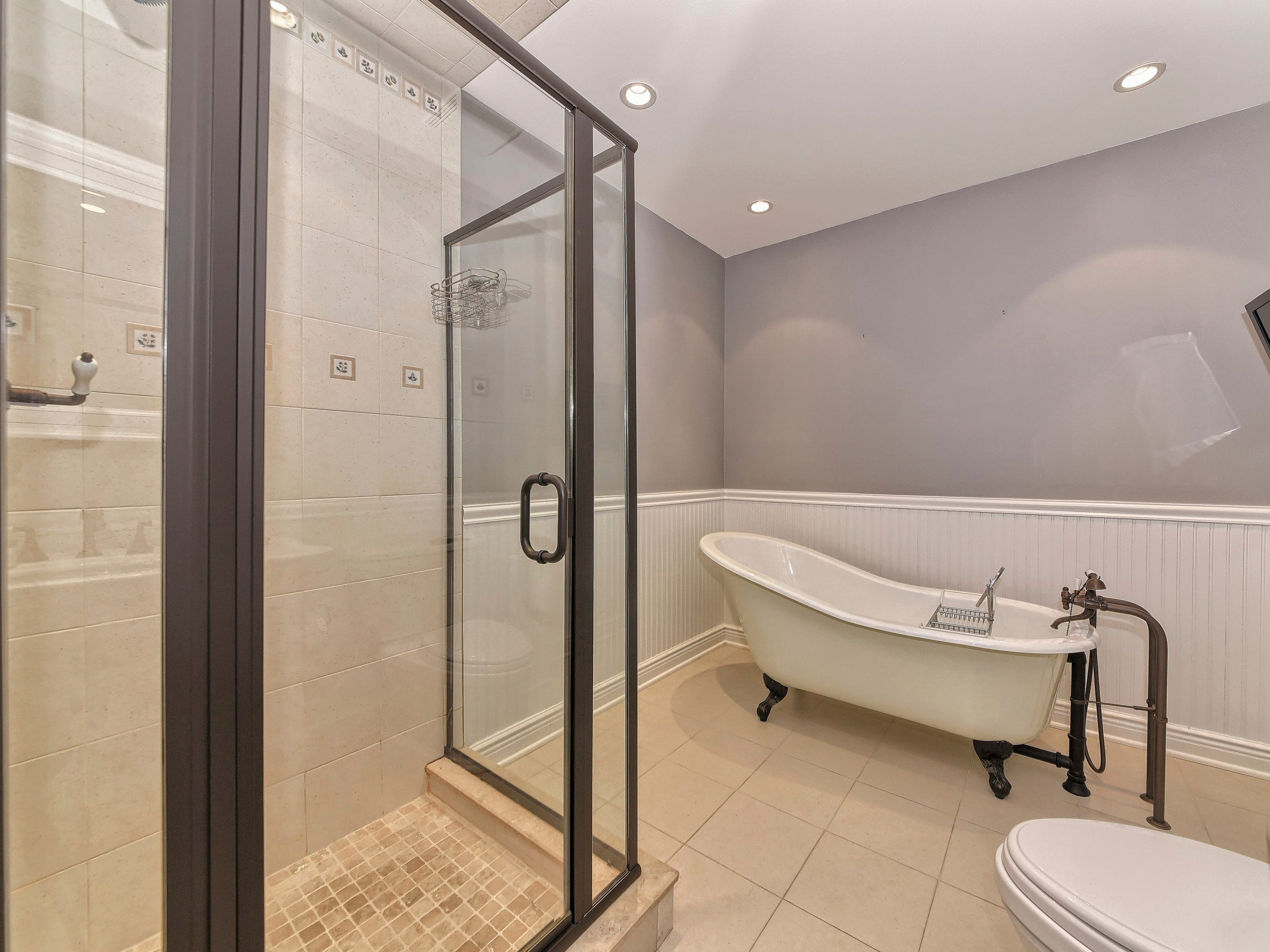 One of two master bathrooms in home.