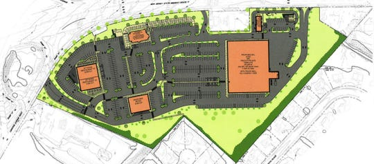 A rendering of the proposal for the Stop & Shop site in Paramus.