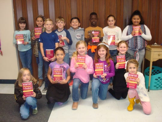 Each school year, the Doña Ana County Federated Republican Women donates new Webster's Dictionary for Students to area youth. Pictures is Lura Baxter's third grade class, Mesilla Valley Christian School